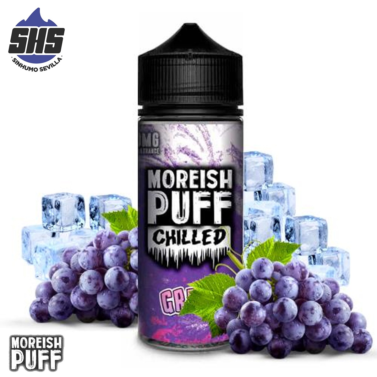 Chilled Blue Raspberry 100ml by Moreish Puff