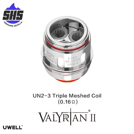 Coils Valyrian II UN2-3 Triple Meshed (0.16 Ω)  by Uwell