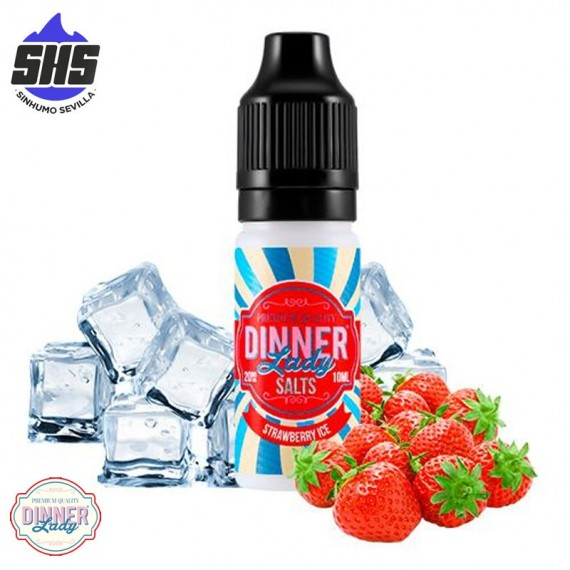 Strawberry Ice 20mg 10ml by Dinner Lady Salts