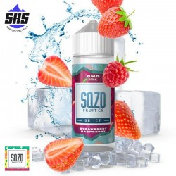 Strawberry Raspberry On Ice 100ml by SQZD Fruit Co