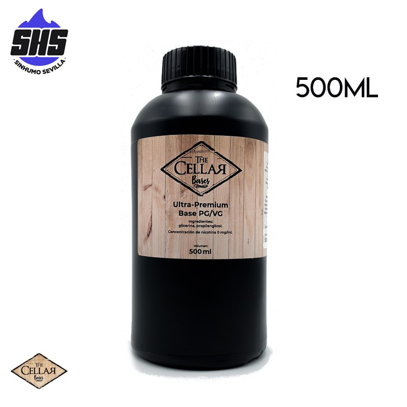 Base 20PG / 80VG 500ML 0mg TPD by The Cellar Bases