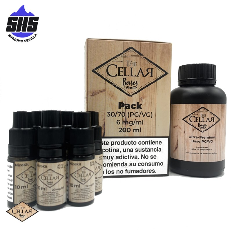 Pack Base 20PG / 80VG 200ml 6mg by The Cellar Bases