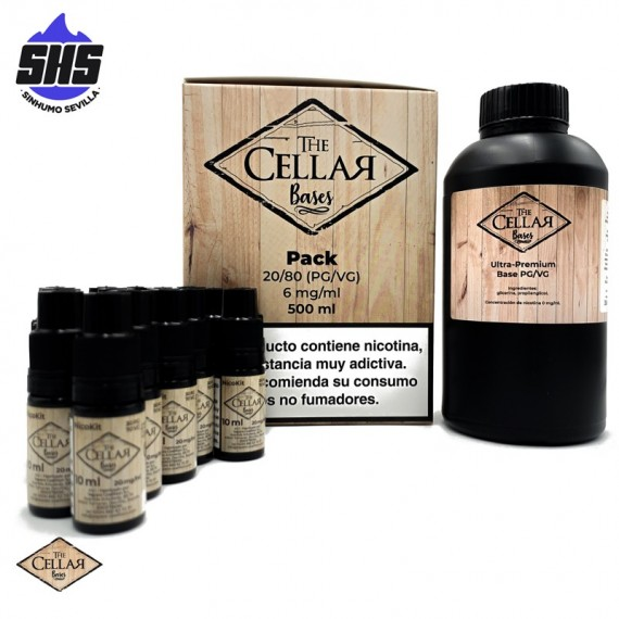 Packs De Bases 500ml 6mg By The Cellar Bases