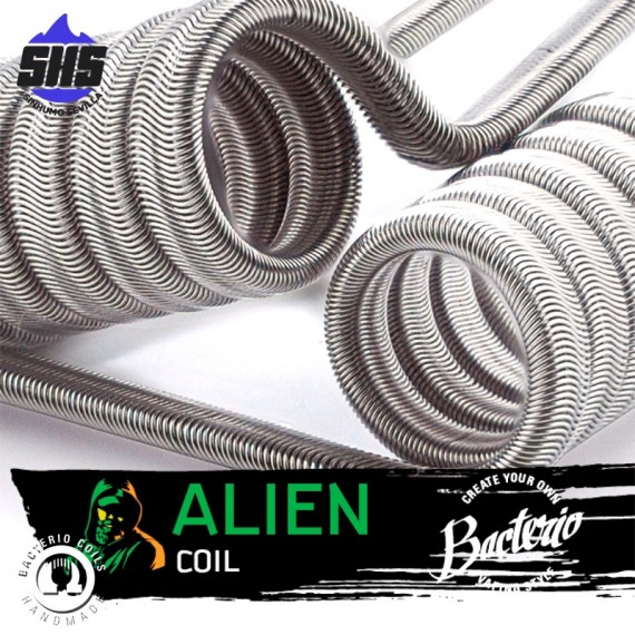 Alien coil 0,12 Ohm Full N80 by Bacterio Coils