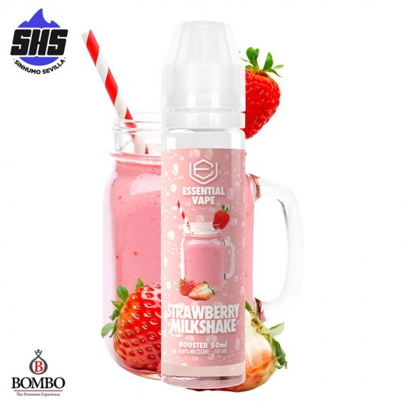 Strawberry Milkshake Essential Vape 50ml TPD by Bombo