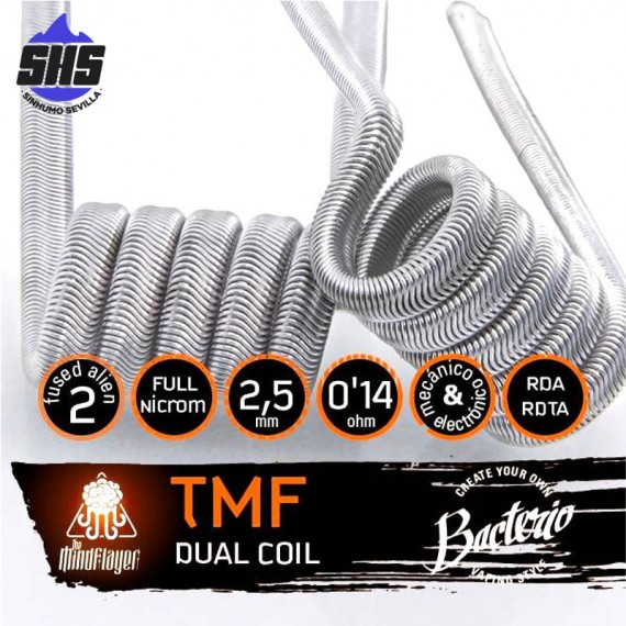 TMF 0.14 Ohm Full N80 by Bacterio Coils