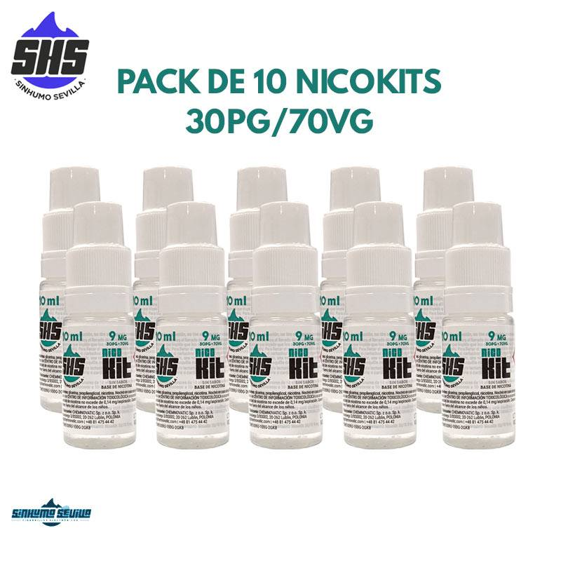 Pack de 10 Nicokits 30/70 9mg By SinHumo Sevilla