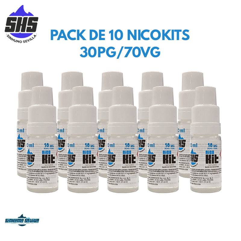 Pack de 10 Nicokits 30/70 18mg By SinHumo Sevilla