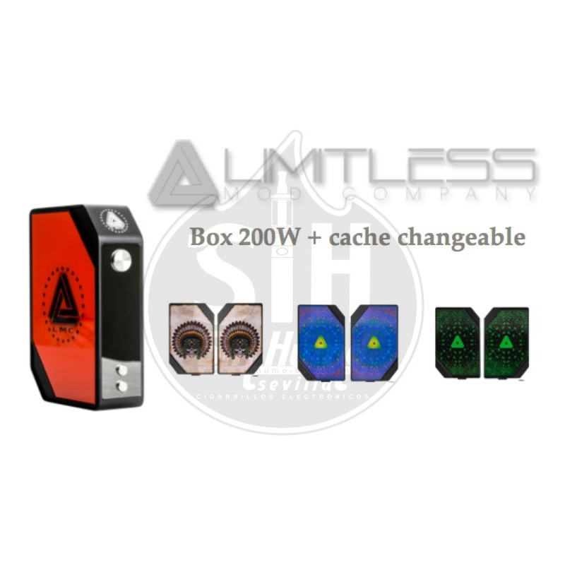 Tapas Intercambiables Limitless 200w Box Mod