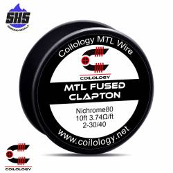 N80 Wire MTL Fused Clapton By Coilology
